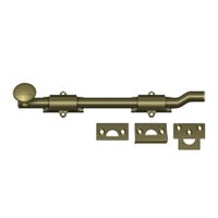"Deltana Fpg105 - 10"" Surface Bolt W/ Off-Set, Hd - Antique Brass Finish"