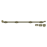 "Deltana Fpg425 - 42"" Surface Bolt W/ Off-Set, Hd - Antique Brass Finish"