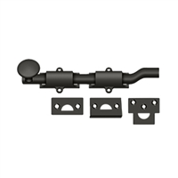"Deltana Fpg610B - 6"" Surface Bolt W/ Off-Set, Hd - Oil-Rubbed Bronze Finish"