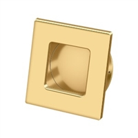 "Deltana Fps234Cr003 - Flush Pull, Square, Hd, 2-3/4""X 2-3/4"", Solid Brass - Pvd Polished Brass Finish"