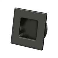 "Deltana Fps234U10B - Flush Pull, Square, Hd, 2-3/4""X 2-3/4"", Solid Brass - Oil-Rubbed Bronze Finish"