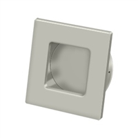 "Deltana Fps234U15 - Flush Pull, Square, Hd, 2-3/4""X 2-3/4"", Solid Brass - Brushed Nickel Finish"