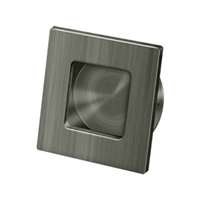 "Deltana Fps234U15A - Flush Pull, Square, Hd, 2-3/4""X 2-3/4"", Solid Brass - Antique Nickel Finish"