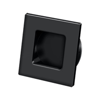 "Deltana Fps234U19 - Flush Pull, Square, Hd, 2-3/4""X 2-3/4"", Solid Brass - Paint Black Finish"