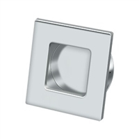 "Deltana Fps234U26 - Flush Pull, Square, Hd, 2-3/4""X 2-3/4"", Solid Brass - Polished Chrome Finish"