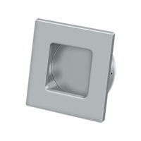 "Deltana Fps234U26D - Flush Pull, Square, Hd, 2-3/4""X 2-3/4"", Solid Brass - Brushed Chrome Finish"