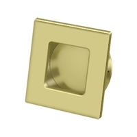 "Deltana Fps234U3 - Flush Pull, Square, Hd, 2-3/4""X 2-3/4"", Solid Brass - Polished Brass Finish"