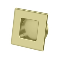 "Deltana Fps234U3-Unl - Flush Pull, Square, Hd, 2-3/4""X 2-3/4"", Solid Brass - Unlacquered Brass Finish"