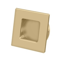 "Deltana Fps234U4 - Flush Pull, Square, Hd, 2-3/4""X 2-3/4"", Solid Brass - Brushed Brass Finish"