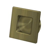 "Deltana Fps234U5 - Flush Pull, Square, Hd, 2-3/4""X 2-3/4"", Solid Brass - Antique Brass Finish"