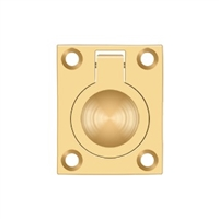 "Deltana Frp175Cr003 - Flush Ring Pull, 1 3/4""X 1 3/8"" - Pvd Polished Brass Finish"
