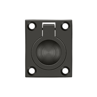 "Deltana Frp175U10B - Flush Ring Pull, 1 3/4""X 1 3/8"" - Oil-Rubbed Bronze Finish"