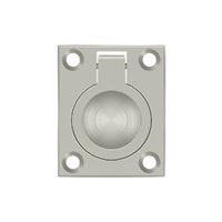 "Deltana Frp175U15 - Flush Ring Pull, 1 3/4""X 1 3/8"" - Brushed Nickel Finish"