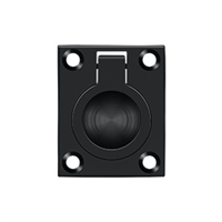"Deltana Frp175U19 - Flush Ring Pull, 1 3/4""X 1 3/8"" - Paint Black Finish"