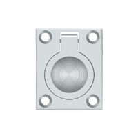 "Deltana Frp175U26 - Flush Ring Pull, 1 3/4""X 1 3/8"" - Polished Chrome Finish"