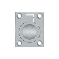"Deltana Frp175U26D - Flush Ring Pull, 1 3/4""X 1 3/8"" - Brushed Chrome Finish"