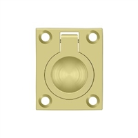 "Deltana Frp175U3 - Flush Ring Pull, 1 3/4""X 1 3/8"" - Polished Brass Finish"