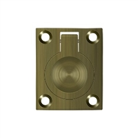 "Deltana Frp175U5 - Flush Ring Pull, 1 3/4""X 1 3/8"" - Antique Brass Finish"