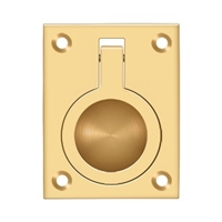 "Deltana Frp25Cr003 - Flush Ring Pull, 2 1/2""X 1 7/8"" - Pvd Polished Brass Finish"