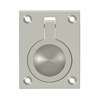 "Deltana Frp25U15 - Flush Ring Pull, 2 1/2""X 1 7/8"" - Brushed Nickel Finish"