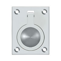 "Deltana Frp25U26 - Flush Ring Pull, 2 1/2""X 1 7/8"" - Polished Chrome Finish"