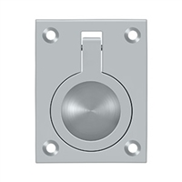 "Deltana Frp25U26D - Flush Ring Pull, 2 1/2""X 1 7/8"" - Brushed Chrome Finish"