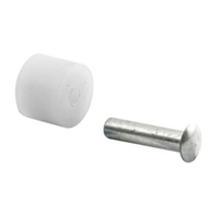 "Prime Line G 3017 - Sliding Window Roller, W/Axle Pins, 3/8"" Flat Nylon"