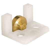 "Prime Line G 3061 - Sliding Window Roller Assembly, 5/16"" Flat Brass Wheel"