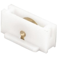 "Prime Line G 3122 - Sliding Window Roller Assembly, 3/8"" Flat Brass Wheel"
