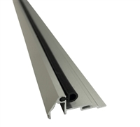 "Stanley Duraglide Beveled Glass Stop Gutter- 1/4"" Glass, Clear, Includes Vinyl, 4 Foot Length"