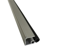 "Stanley Duraglide Square Glass Stop- 1/4"" Glass, Clear, Includes Vinyl, 4 Foot Length"