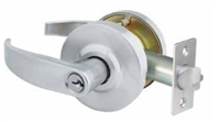 Global Door Controls Gal-1110P-626 Gal Series Pisa Grade 2 Lever, Passage Leverset