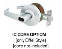 Global Door Controls Gal-1151L-Ic626 Series Eiffel Grade 2 Lever, Ic Core Leverset (Less) Core, Entry Ic