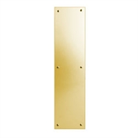 "Global Door Controls Gh-Pp53-Us3, 3-1/2"" X 15"" Solid Brass Push Plate"