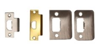 Global Door Controls Gla025-626 Gla Series Latch, Ansi Strike, Us26D Satin Chromium Plated Finish