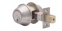 Global Door Controls Glc560Ul-626 Series Grade 3 Deadbolt, Single Cylinder Deadbolt, Us26D Satin Chrome Finish