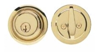 Global Door Controls Gls660-605 Gls Series, Single Cylinder Deadbolt, Us3 Bright Brass Finish