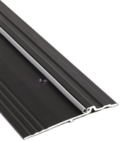 "Gorilla Heavy Duty ADA Compliant Aluminum 5"" Wide x 1/2"" Tall Bumper Seal Panic Threshold, Made In USA, Specify Size and Finish"