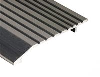 "Gorilla Heavy Duty 5"" Wide 1/2"" Tall Aluminum Half Saddle Threshold for Commercial Applications, Made In USA, Specify Size and Finish"