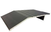 "Gorilla Heavy Duty 5"" Wide x 3/4"" Tall Aluminum Half Saddle Threshold for Commercial Applications, Made In USA, Specify Size and Finish"