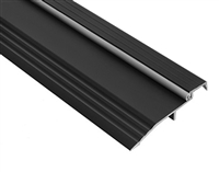 "Gorilla Heavy Duty ADA Compliant Bumper Seal Half Saddle 5"" x 1/2"" Threshold for Commercial Application, Made In USA, Specify Size and Finish"