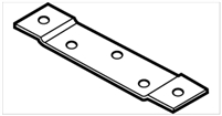 "Don Jo Hr-100-Steel, 3-1/2"" Hinge Reinforcement, Steel Finish"