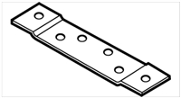 "Don Jo Hr-190-Steel, 5"" Hinge Reinforcement, Steel Finish"