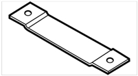"Don Jo Hr-210-5-Steel, 5"" Blank Hinge Reinforcement, Steel Finish"