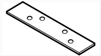 "Don Jo Hr-215-4-1/2-Steel, 4-1/2"" Flat Hinge Reinforcement, Steel Finish"