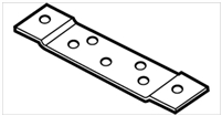 "Don Jo Hr-218-Steel, 6"" Flat Hinge Reinforcement, Steel Finish"