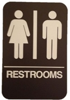 "Don Jo Hs-9060-03-Brown, 6"" X 9"" Restrooms, Brown Finish"