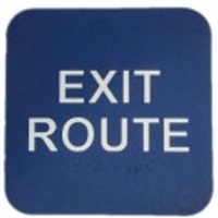 "Don Jo Hs-9070-34-Blue, 6"" X 9"" Exit Route, Blue Finish"