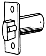 "S. Parker Hardware I9100,  Passage / Private Latch 2-3/4"" In Polished Brass For 92641/42/43, B2638/39"