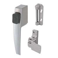 Prime Line K 5006 - Push Button Latch Set, Aluminum